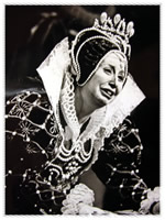 Beverly Sills as Queen Elizabeth in Donzietti's Roberto Devereux