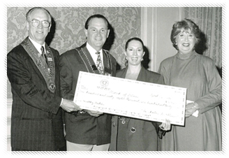 March of Dimes recieves a donation